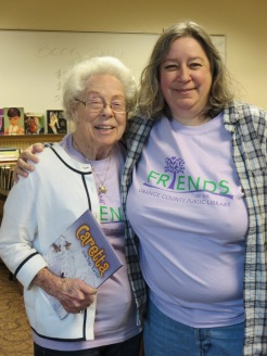 Gloria Glenn, Guest Author, and Stacey Gamble, Book Sale Coordinator.