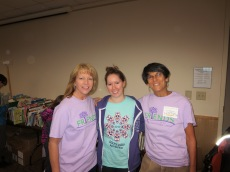 Volunteer and former Board Member Robin Bedingfield, Ashley of Total Exposures in Hillsborough (printer of our t-shirts), and Lori-Anne Shapiro.