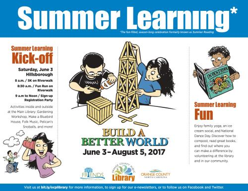 Summer Learning 1 pager